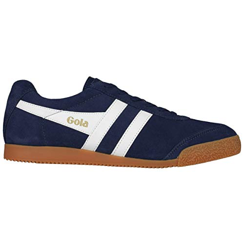 Navy White Gola Sneaker Off Harrier Uomo Suede Y1IrY