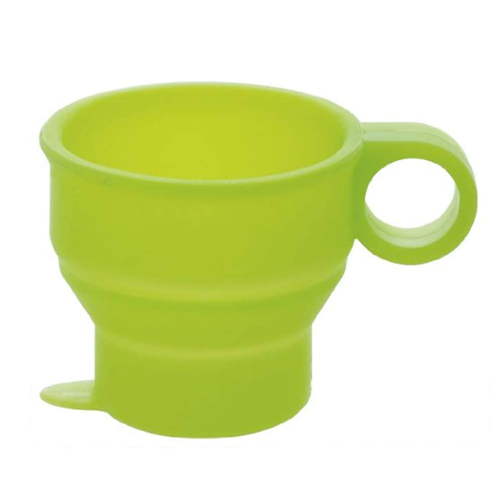 Isuper Collapsible Silicone Cup Bpa Free Food Grade Foldable Silicone Mug For Travel Camping - Green