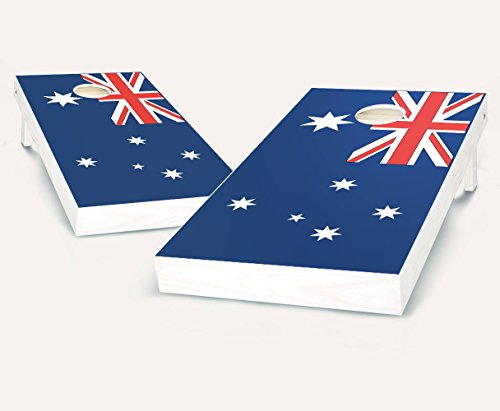 Australian AUSTRALIA Flag Cornhole Boards Regulation Size Game Set Baggo Bean Bag Toss + 8 ACA Regulation Bags