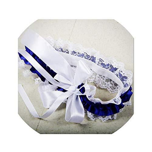 NEW Bridal Wedding Garters Light Blue On Light Blue Prom GetTheGoodStuff