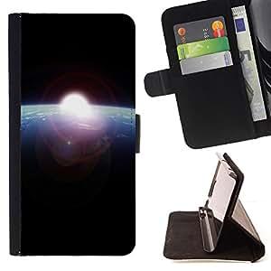 Jordan Colourful Shop - earth blue planet sun space black cosmos For HTC One M7 - < Leather Case Absorci????n cubierta de la caja de alto impacto > -