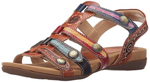 Sandal Spring by L'Artiste Multi Camel Step Gipsy Women Flat dYHqPwqx