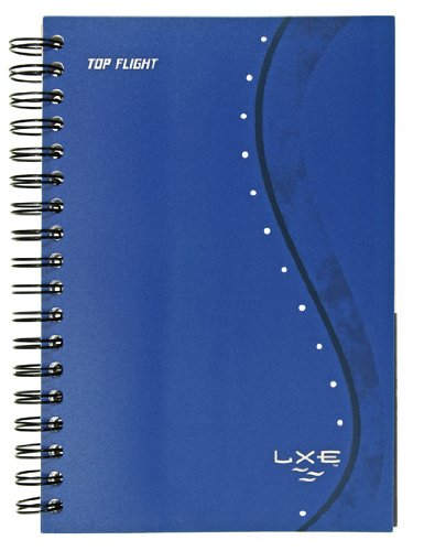 Lxe Notebooks - Top Flight LXE 3-Subject Translucent Poly Cover Twin Wirebound Notebook, 120 Sheets, College Rule, 9.5 x 6 Inches, 1 Notebook, Cover May Vary (43057)