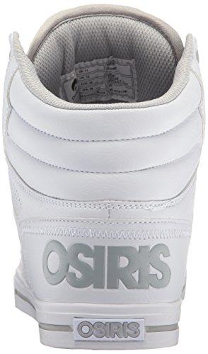 Osiris Mens Chaussure De Patin Clone Blanc / Gris Clair