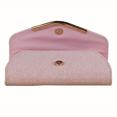 Party Purse Clutch Handbag Pink Envelope Women Evening Glitter wO1Rxn8IqZ