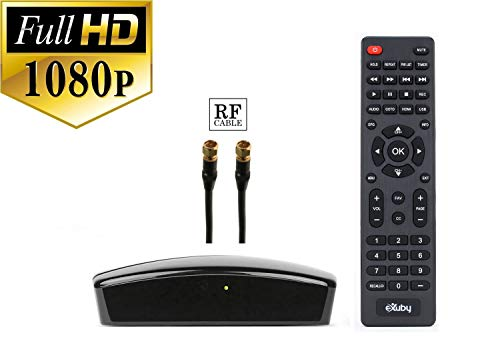 Digital TV Converter Box for Viewing and Recording HD Digital Channels for Free (Instant or Scheduled Recording, 1080P HDTV, HDMI Output, 7 Day Program Guide) - Comes with RF and RCA Cable