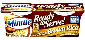 Minute Ready to Serve Natural Whole Grain Brown Rice 2 - 4.4 oz cups (Pack of 5)