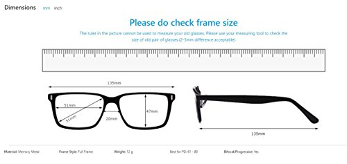 Firmoo Customized Retro Round Clear Lens Glasses Metal Frame(Prescription/Bifocal Flat Top) by Firmoo (Image #4)