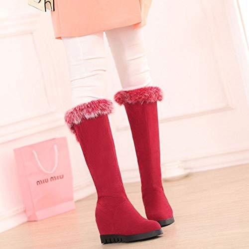 Inverno Inverno Knee Knee Knee Stivali Caldo On Rosso Lydee Donne Pull Foderato Moda Shoes gSSFEU