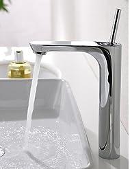 Ling Basin Mixer Single Handle Mixer Tap Tall Bathroom Sink Faucet Chrome Finish