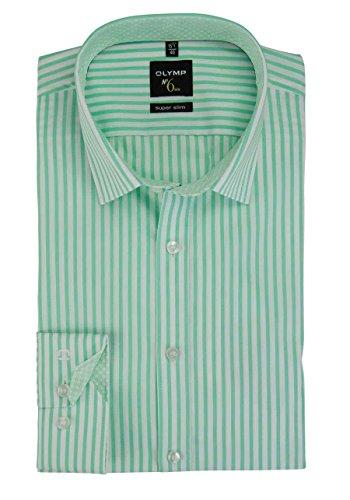 OLYMP No. Six super slim Hemd Langarm New Kent Kragen Streifen mint