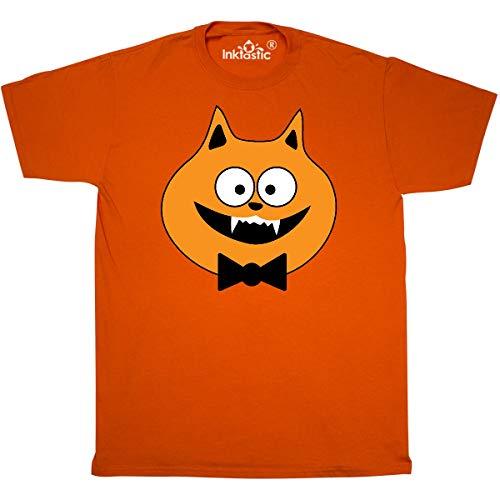 inktastic - Halloween Vampire Cat Costume T-Shirt Large Orange 325cf -