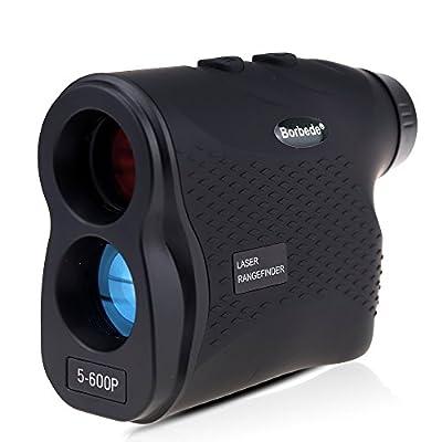Borbede Laser Rangefinder Golf Hunting Telescope 600m(656yards) Laser Distance Meter with Speed Scan Fog Measurement?Black by Huichen