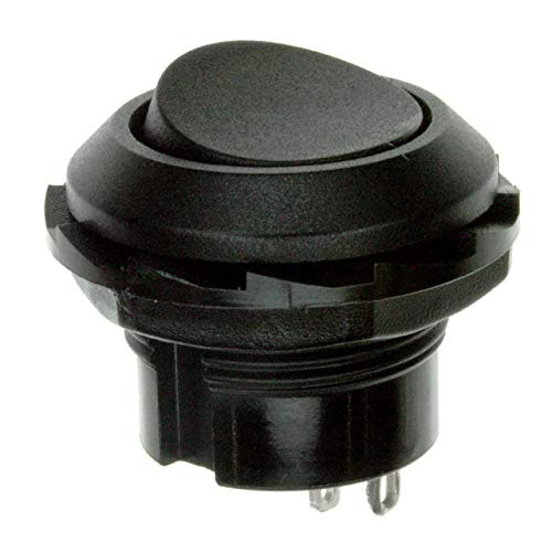 SWITCH ROCKER SPST 10A 125V (Pack of 20) (RR3130ABLKBLKES) by E-Switch