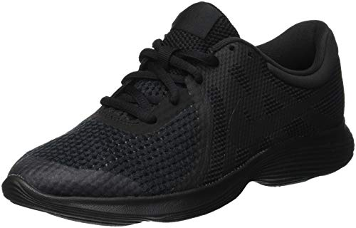 Nike Herren Revolution 4 (GS) Laufschuhe, Schwarz (Black/Black 004)