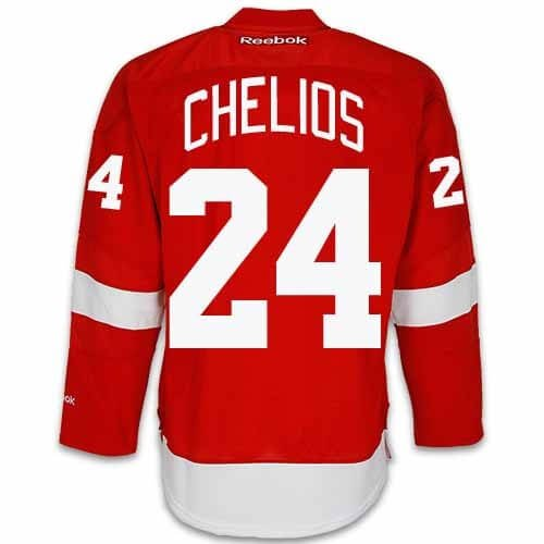 Chris Chelios Detroit Red Wings Home Jersey by Reebok, Red, 4XL (Red Wings Chris Chelios)