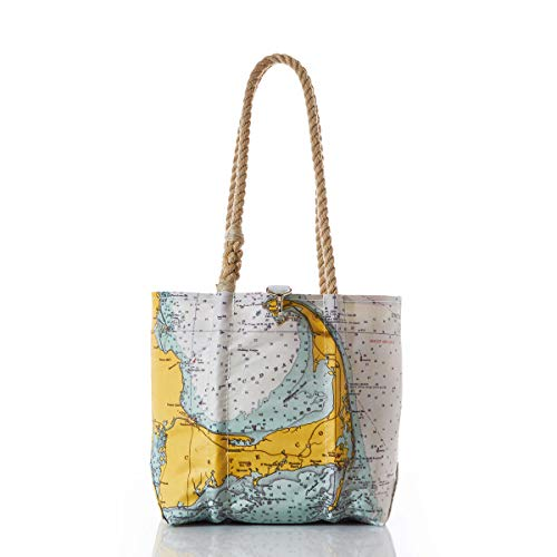Sea Bags Recycled Sail Cloth Cape Cod Nautical Chart Handbag ()