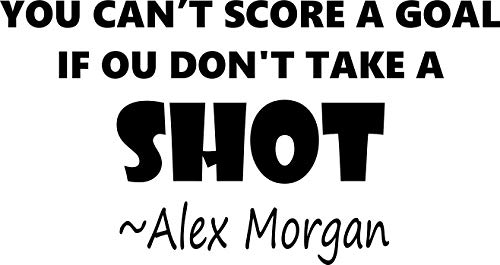 ALEX MORGAN WALL DECALS FOR GIRLS BEDROOMS / Girl Inspirational Soccer Quotes / Kids Stickers Vinyl Art For Decorating Childrens Rooms / US International Soccer Team SORE GOAL Size 20x20 inch