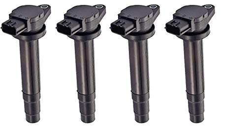 (Set of 4 Ignition Coils for 2000 2001 Nissan 1.8L Sentra fits UF-326 UF326 C1334 224484M500 224484M50A)
