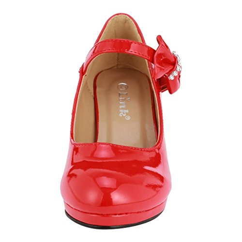 Pictures of Coshare Kid's Fashion Girl Patent Mary 4