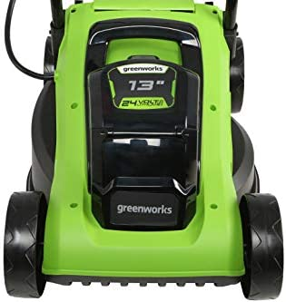 """411t051cdxL. AC  - Greenworks 24V 13"""" Lawn Mower, 4Ah USB Battery and Charger Included MO24B410"""