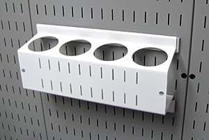 asm-ch-014W de control de pared Pegboard Spray soporte y aerosol puede organizador para control de pared Pegboard sólo, blanco color: blanco, Modelo: asm-ch-014W, herramientas y Ferretería