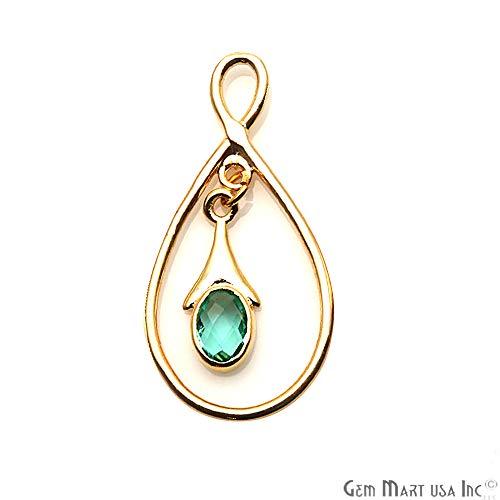 Apatite Gemstone Connector, Earring Connector, Finding Pendant, Chandelier Findings, Pendant Necklace, Single Bail GemMartUSA (GPAP-90052)