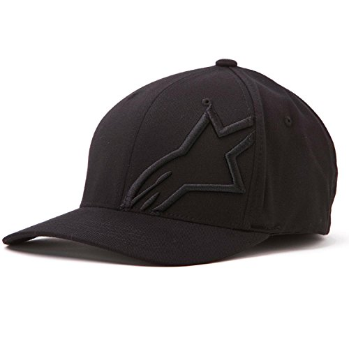 Alpinestars Men's Corp Shift 2 Flexfit Hat, Black/Black, Small/Medium
