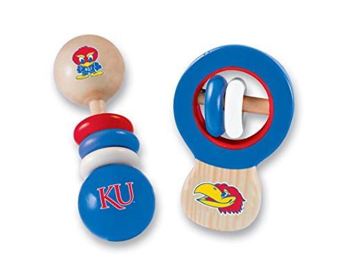 - MasterPieces NCAA Kansas Jayhawks Baby Rattle, 2-Pack