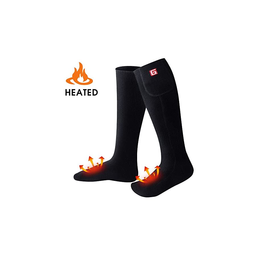 GLOBAL VASION Rechargeable Battery Heated Socks Kit for Chronically Cold Feet for Women and Men