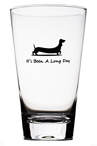 Momstir It's Been a Long Day Dachshund Funny Novelty Beer Glass & Wine Glass Combo 16oz Wiener Dog Beer Gifts Dog Beer Gifts Present for Dad Papa Grandpa by Momstir (Image #2)