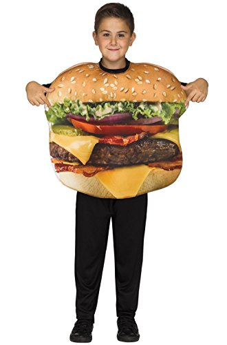 [Cheeseburger Fast Food Funny Child Costume] (Giant Bra Costume)