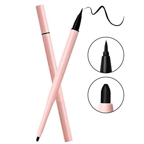 Eyeliner, Liquid Eyeliner- Waterproof Eyeliner Black Eyeliner Eye Pencil Quick-drying Eye Liner Hard-headed Not Blooming Lasting Smooth Eyeliner (Duo Eyeliner)