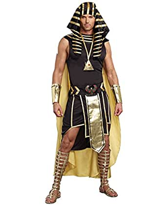 Dreamgirl 9893 King Of Egypt Pharaoh Mens Costume - X-Large - Black/Gold