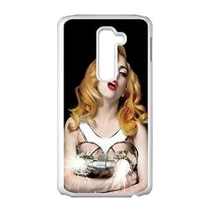 Lady Gaga ROCK021100 Phone Back Case Customized Art Print Design Hard Shell Protection LG G2
