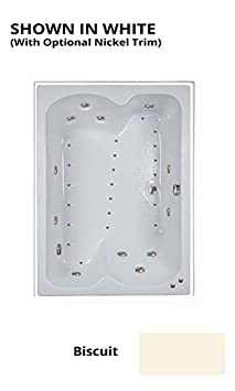 Watertech 60 in. x 43 in. C6043 White Combination Bath