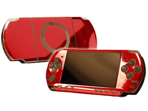 Sony PlayStation Portable 2000 (PSP-Slim) Skin - NEW - RED CHROME MIRROR system skins faceplate decal mod