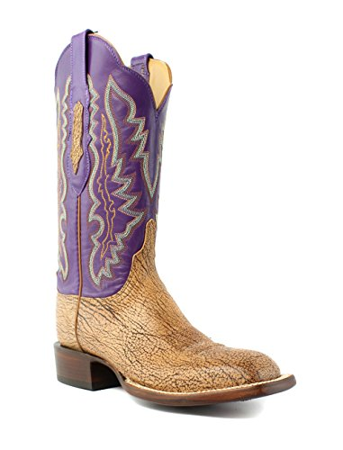 - Lucchese HL5501.W8 Susana Womens Tan Burnished Goat Leather Cowboy Western Boots