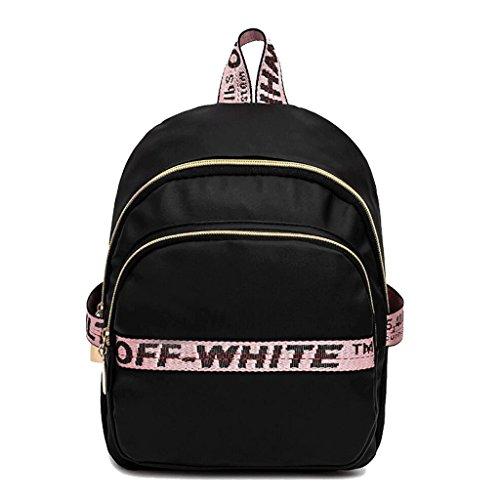 noir Rose à Sacs Nylon 11cm Ruffles Backpack bandoulière 27 24 HWXqRv