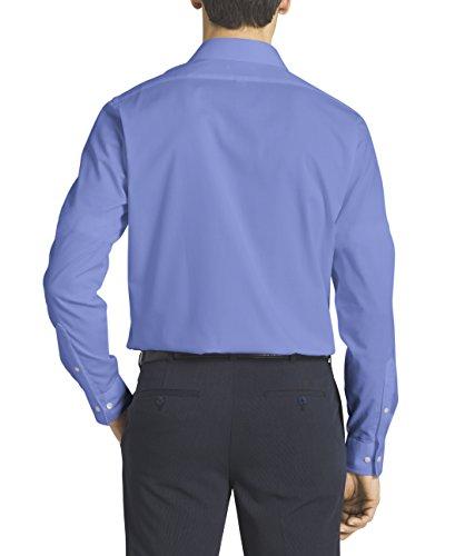 Van heusen men 39 s flex collar regular fit solid spread for Mens wide collar dress shirts