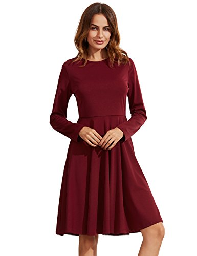 SheIn Womens Sleeve Casual Pleated