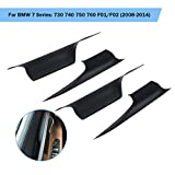 Partol Front Rear Left Right Door Handle Carrier Trim Cover Kit For BMW 7 Series 730 740 750 760 F02 2008-2014, Passenger & Drive Side Inside Interior Inner Door Pull Handle Covers (Set of 4)