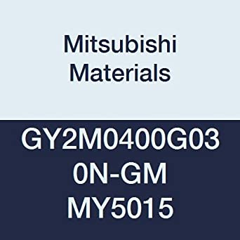 G Seat 0.012 Corner Radius Pack of 10 Mitsubishi Materials GY2M0400G030N-GM MY5015 GY Series Carbide Grooving Insert for Grooving//Cutting Off and Medium Feeds 2 Teeth 0.157 Grooving Width