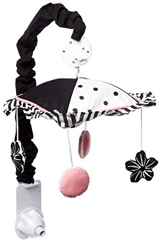 GEENNY Musical Mobile, Boutique Black/White Flower and -