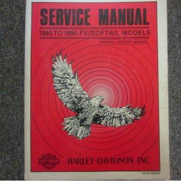 1985 1988 1990 Harley Davidson FX Softail Models Service Repair Shop Manual x (Wiring Custom Motorcycle)