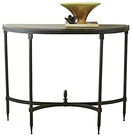 Magnificent Amazon Com Classic Fluted Iron Black Granite Demilune Gamerscity Chair Design For Home Gamerscityorg