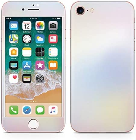 igsticker iPhone SE 2020 iPhone8 iPhone7 専用 スキンシール 全面スキンシール フル 背面 側面 正面 液晶 ステッカー 保護シール 009634 水彩 ピンク 青