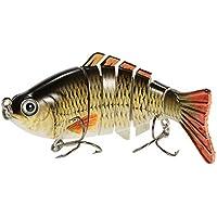 Lixada Fishing Lure 7 Segment Lifelike Swimbait Multi...