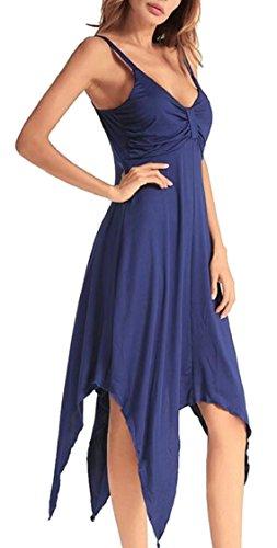 V Digital Print Jaycargogo Neck 4 Hem Irregular Sleeveless Womens Dress Sexy 4FwqxETZ
