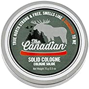 Walton Wood Farm Solid Cologne (The Canadian) Maple Bark & Wild Portage Scent Vegetarian-Friendly and Para